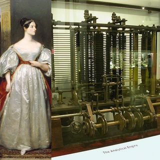 Ada-lovelace-and-a-trial-model-of-a-part-of-charles-babbages-analytical-engine